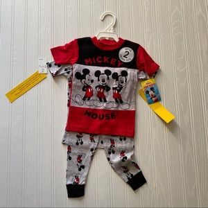 2 Cotton Micky Mouse Pajama Sets